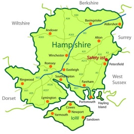Location Map of Safety 1st in Hampshire